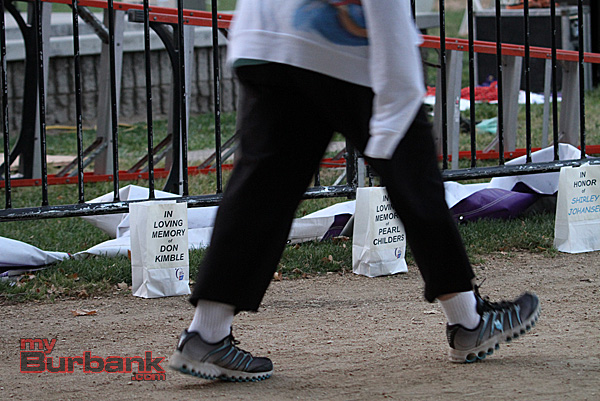 Hundreds walked in this years Relay for Life at Johnny Carson Park, the event which started Saturday morning continued through Sunday. Hundreds of dollars were raised to help fight the disease. (Photo by Ross A. Benson)