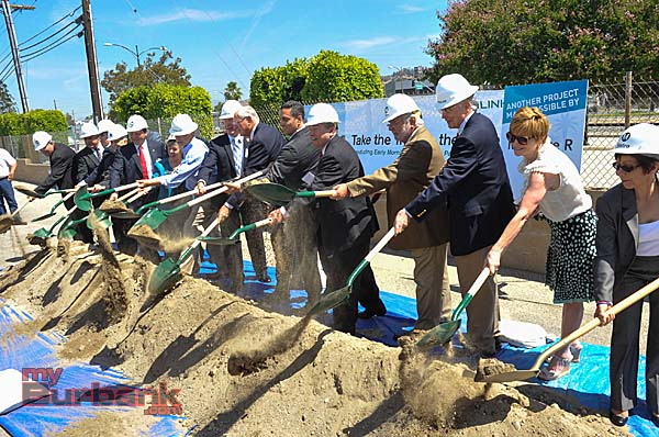 Ground is officially broken on a new Metrolink Station that will serve the Antelope Valley line at Bob Hope Airport  (Photo By Craig Sherwood)