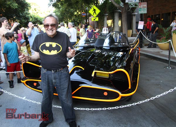 George Barris with his Bat mobile creation . (Photo by Ross A. Benson)