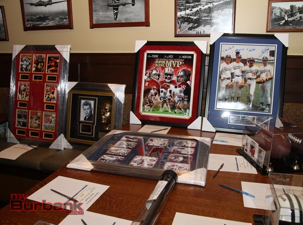 Silent Auction items on display. (Photo by Ross A. Benson)