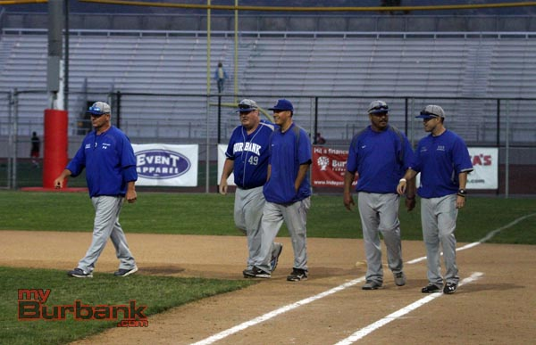 Coach Craig Sherwood (second from the left) leaves Burbank to return to coach at his alma mater (Photo by Ross A. Benson)