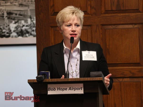 Bob Hope Airport  Deputy Exec. Director Monica Newhouse.(Photo by Ross A. Benson)