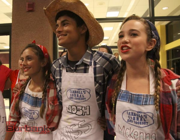 Members of the Burbank High VMA perform during Carroll's Coral Fundraiser. (Photo by Ross A. Benson)