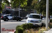 Burbank Police conduct their investigation following a Robbery/Carjacking attempt.(Photo by Ross A. Benson)