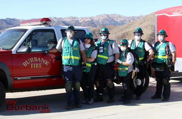 Burbank's CERT Team is prepared and ready for any emergency, pictured here during CERT Compilation. (Photo by Ross A. Benson)