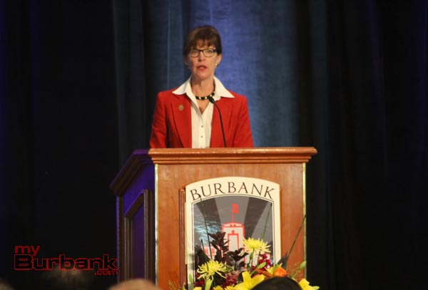 Burbank Mayor Emily Gabel Luddy. (Photo by Ross A. Benson)