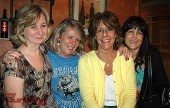 """Attending the Burbank-Burroughs Alumni Assn. kick-off party are, from left, Roberta """"Grande"""" Reynolds, Burbank High Class of 1972; Debra """"Chew"""" Atherton, Joanne """"Lento"""" Miller and Barbara Austin, all from Burroughs Class of 1972. (Photo by Joyce Rudolph)"""