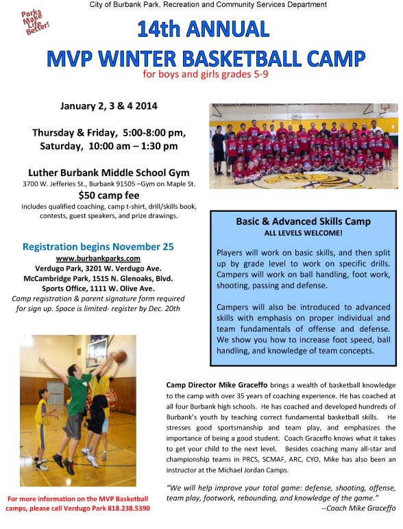Basketball camp Jan 3