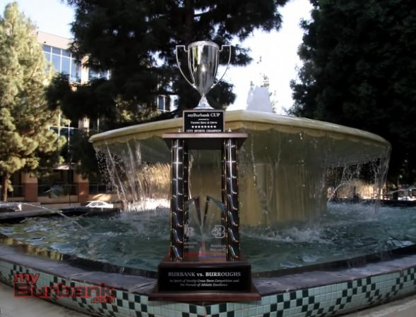 "The ""myBurbank CUP"" will be given to either Burbank or Burroughs in June of each year (Photo by Ross A. Benson)"