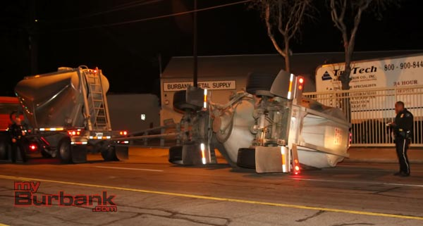 Overturned Cement Hauler -1