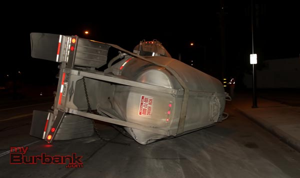 Overturned Cement Hauler -2