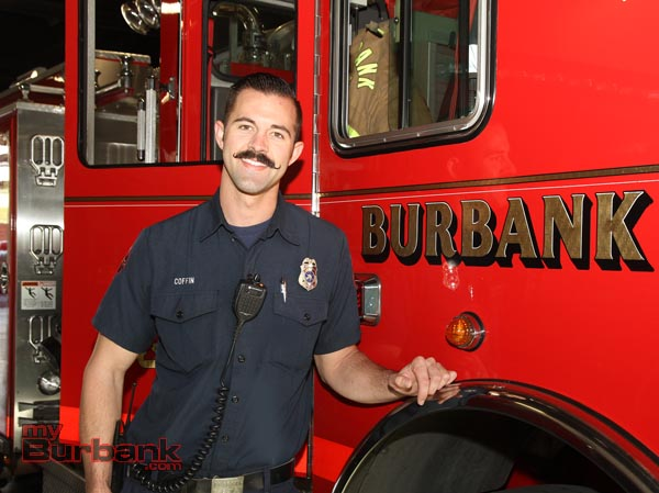 Firefighter Grant Coffin (Photo By Ross A. Benson)