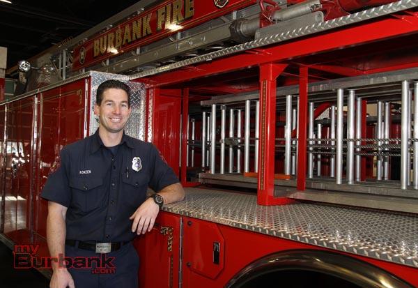 Firefighter Paul Konzen (Photo By Ross A. Benson)