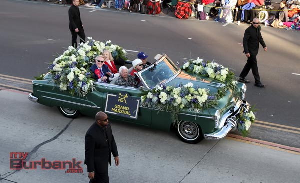 Grand Marshall of the 125th Rose Parade Vin Scully with wife Sandy. (Photo by Ross A. Benson)