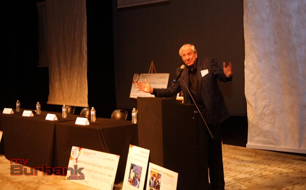 Falcon owner Garry Marshall welcomed all to his theatre prior to the panel talk. ( Photo by Ross A. Benson)