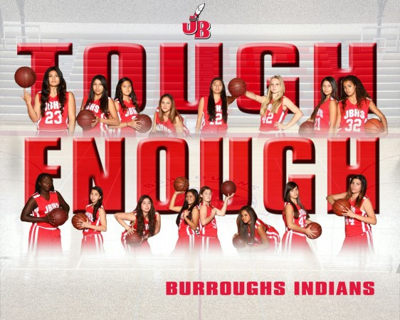 Burroughs Indians: 2014 Pacific League Champions (Image courtesy of Burroughs basketball)