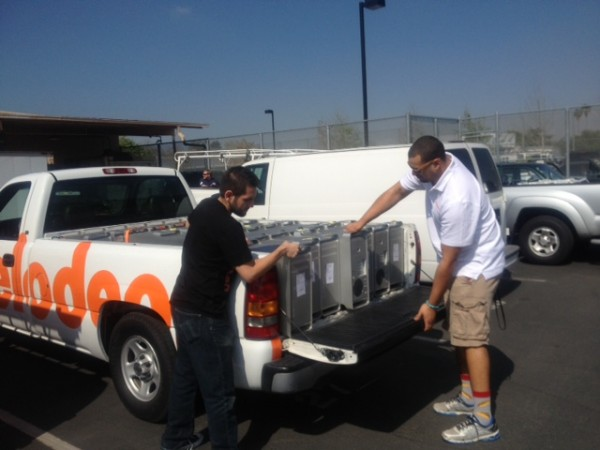 Nickelodeon in Burbank donated computers and monitors to Burbank Unified School District in March. (Photo Courtesy of Nickelodeon Animation Studio)
