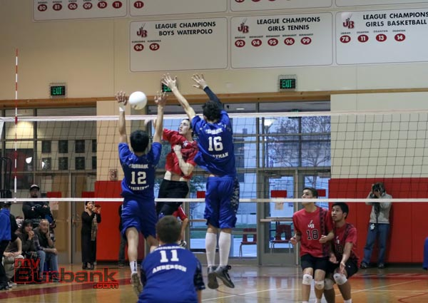 Burroughs was able to maneuver around the Burbank defense in straight sets (Photo by Ross A. Benson)