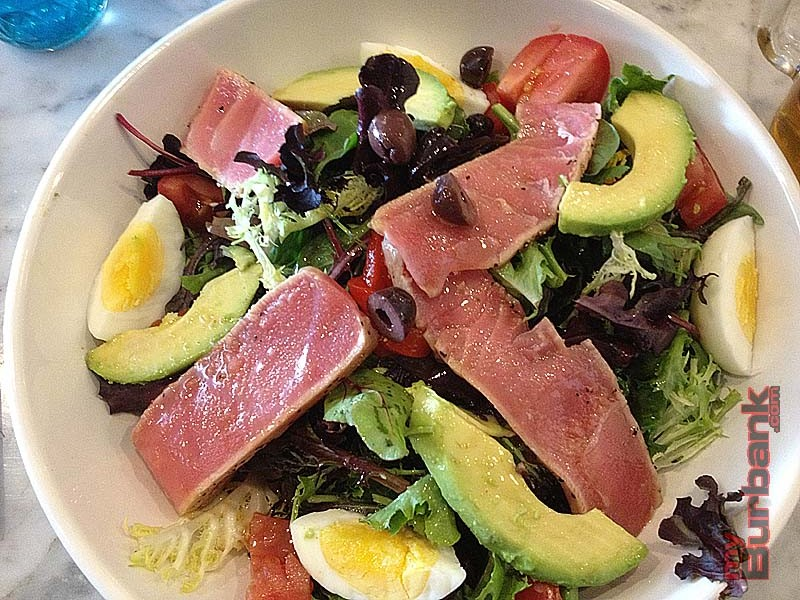 Salad Nicoise at Romancing the Bean is always fresh. This one substitutes avocado for green beans.  (Photo By Lisa Paredes)