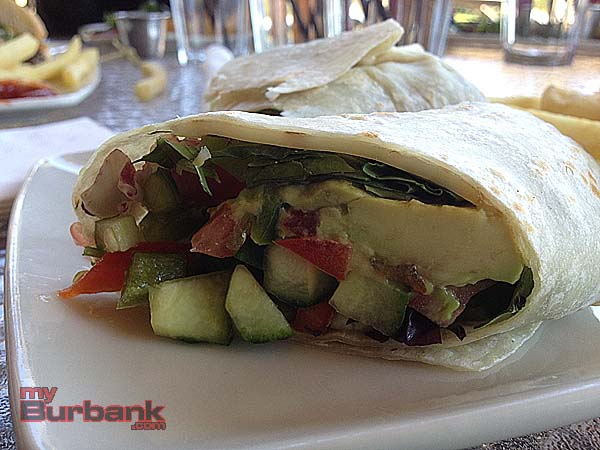 The Canyon Grille's veggie wrap mixes colorful vegetables and cheese.  (Photo By Lisa Paredes)