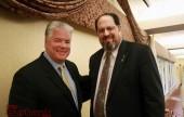 Rev. Douglas Howe with Burbank Mayor Dr. David Gordon(Photo by Ross A. Benson)