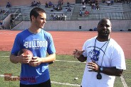 Burbank QB Ryan Meredith with Coach Richard Broussard