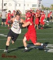 Burroughs Football on defense