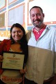 Mentor Brian Hatfield (Storyboard Artist, Wallykazam!) and student Elaine Morales, grade 11. (Photo By Lisa Paredes)