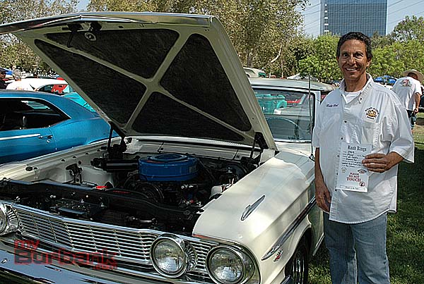 Road Kings member Noel Salvatore presented one of the Road Kings 15 Top Picks, to a 1964 Ford Fairlane 500, owned by Art Tabata from Diamond Bar. (photo by Joyce Rudolph)