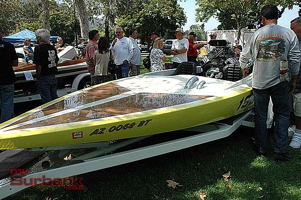 A nitro boat on display at the Road Kings 25th annual Car Show. (photo by Joyce Rudolph)