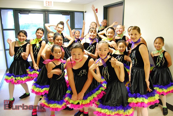"""Dancers from jazz version of """"Do You Love Me"""" backstage. (Photo By Lisa Paredes)"""