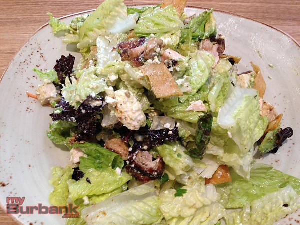 Tender Greens' Chipotle BBQ chicken salad is filling and delicious. (Photo By Lisa Paredes)