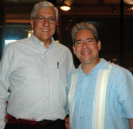 City Manager Mark Scott, left, with Vice Mayor Bob Frutos at the 103rd anniversary celebration of the city of Burbank incorporation. (Photo by Joyce Rudolph)