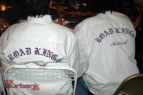 The Salvatore brothers dressed in Road Kings shirts for the Burbank Historical Society fundraiser at Story Tavern. (Photo by Joyce Rudolph)