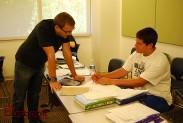 Burbank High teacher Robert Hammell goes over a problem in Algebra 2. (Photo By Lisa Paredes)
