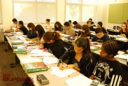 Students at work in Algebra 2. (Photo By Lisa Paredes)