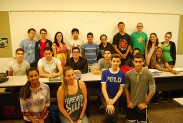Burroughs teacher Carolina Almanzar and her class learn Spanish 3. (Photo By Lisa Paredes)