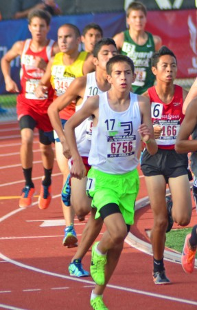 Alexander Hirsch competes at the Junior Olympics (Photo courtesy of Charles Hirsch)
