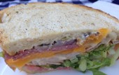 Muffaletta sandwich at Honeydew Cafe. (Photo By Lisa Paredes)