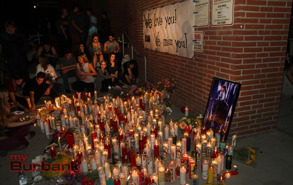 A powerful and emotional candlelight vigil was held in memory of Jake, Ian and April (Photo by Ross A. Benson)