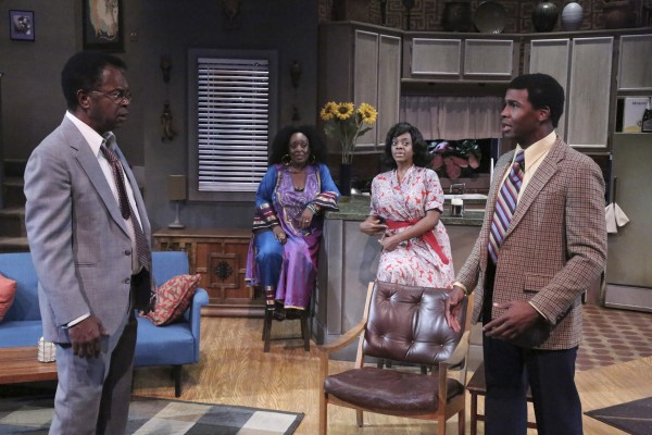 "William C. Mitchell, L. Scott Caldwell, Karan Kendrick and Shon Fuller star in the Colony Theatre production of the West Coast premiere of 'WHAT I LEARNED IN PARIS,"" written by Pearl Cleage and directed by Saundra McClain and now playing at the Colony Theatre in Burbank.(Photo Courtesy of  Michael Lamont)"