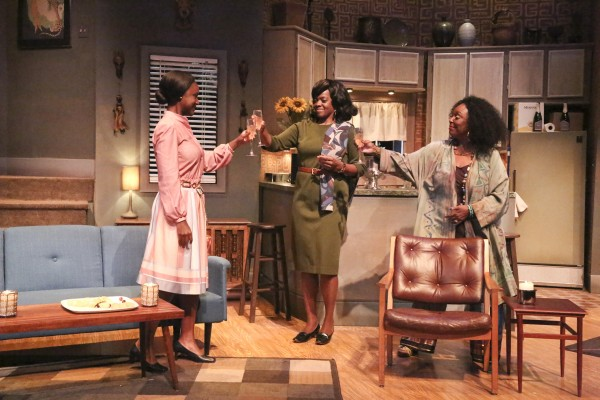 "Joy Brunson, Karan Kendrick and L. Scott Caldwell star in the Colony Theatre production of the West Coast premiere of 'WHAT I LEARNED IN PARIS,"" written by Pearl Cleage and directed by Saundra McClain and now playing at the Colony Theatre in Burbank. (Photo Courtesy of Michael Lamont)"