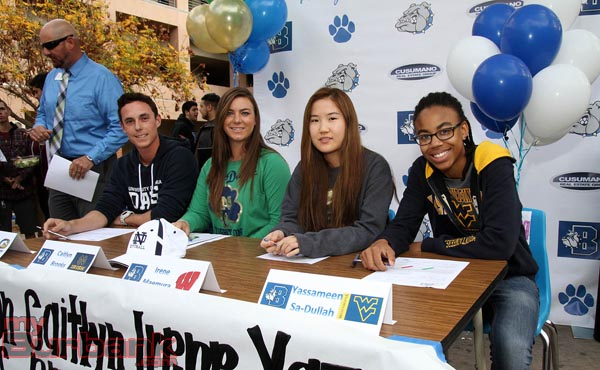 Burbank's finest- (Left to Right) Cameron Briggs, Caitlyn Brooks, Irene Maemura, Yazzy Sa'Dullah (Photo by Ross A. Benson)
