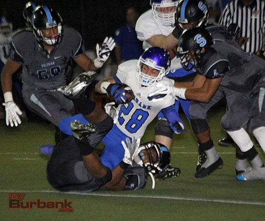 Tony Toledo did all he could for Burbank rushing for 119 yards (Photo By Edward Tovmassian)