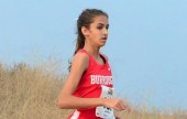 John Burroughs High School's Emily Virtue runs a cross-country terrain course. (Photo Courtesy of Oscar Eligio)