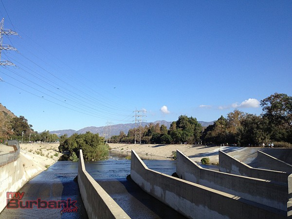 View of the L.A. River from the Los Feliz bridge in Atwater Village during the Greenway 2020 10K.  (Photo By Lisa Paredes)
