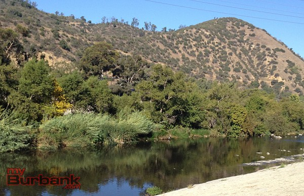The L.A. River and Griffith Park in the background provided a scenic race environment for the L.A. River Run Greenway 2020 10K.  (Photo By Lisa Paredes)