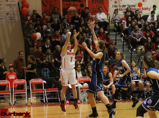 Burroughs' Davina Del Castillo poured in 13 points, 12 rebounds, six assists and six steals in the victory (Photo by Ross A. Benson)