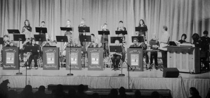 In this undated photograph, the Jordan Band puts on a concert. (Photo Courtesy David Starr Jordan Middle School Yearbook)