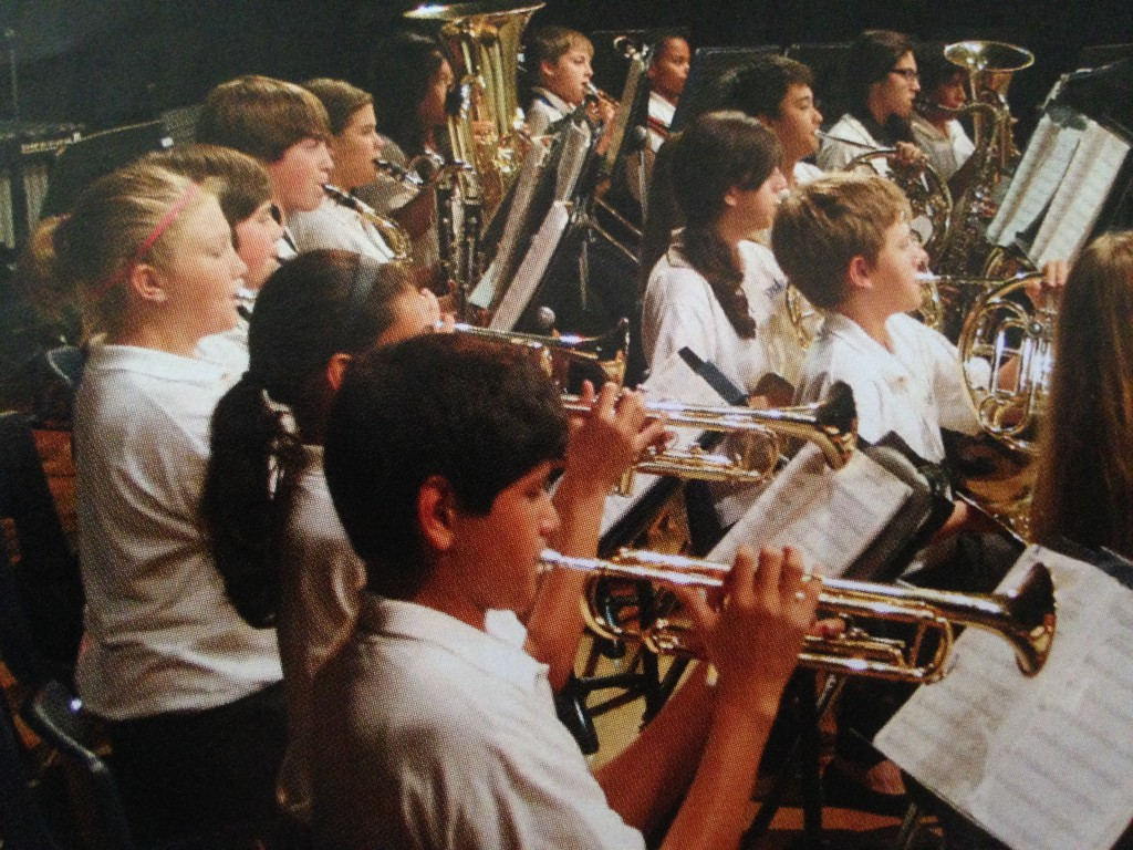 Jordan Band members form 2013-14 perform. (Photo Courtesy David Starr Jordan Middle School Yearbook)